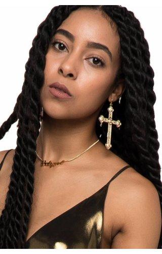 Vidakush Ornate Cross Earrings