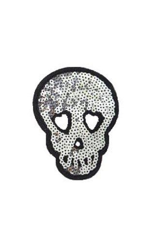 Sequin Skull Patch