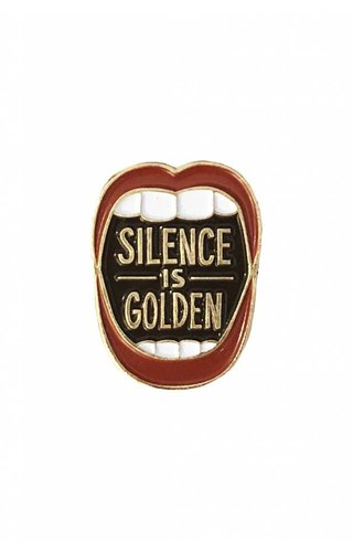 Wit & Whistle Silence Is Golden Pin