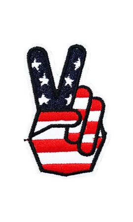 Peace In America Hand Patch