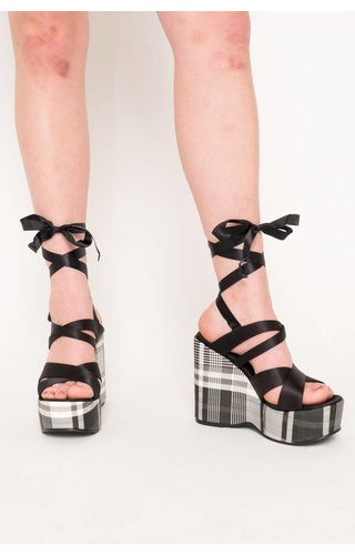 Intentionally Blank Classified Plaid Wedges