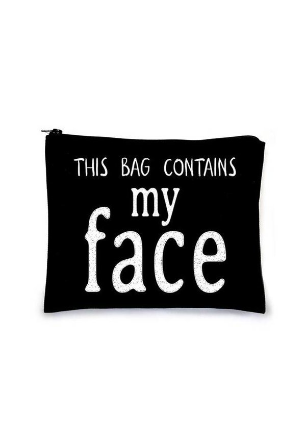 This Bag Contains My Face - Black