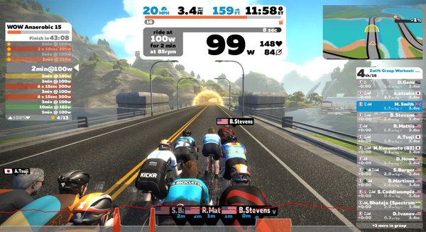 Do intervals online with ZWIFT