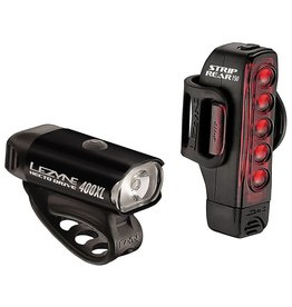 Lezyne Lezyne Hecto Drive 400 Lumens/ Strip Drive 150 Lumens Light Set Black