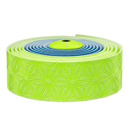 Supacaz Supacaz SSK Neon Blue & Neon Yellow Super Sticky Kush Handlebar Tape, Multi Colour /set