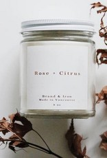 ROSE & CITRUS BRAND&IRON CANDLE