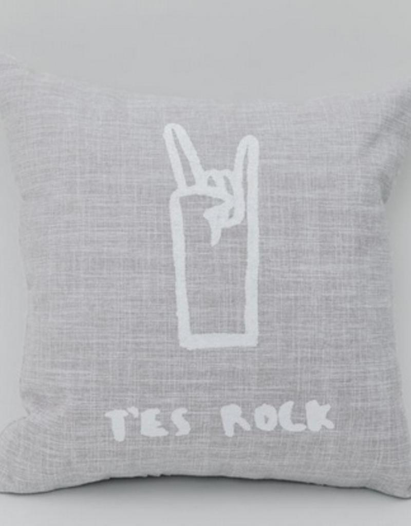 T'ES ROCK FOTOFIBRE  CUSHION 18x18