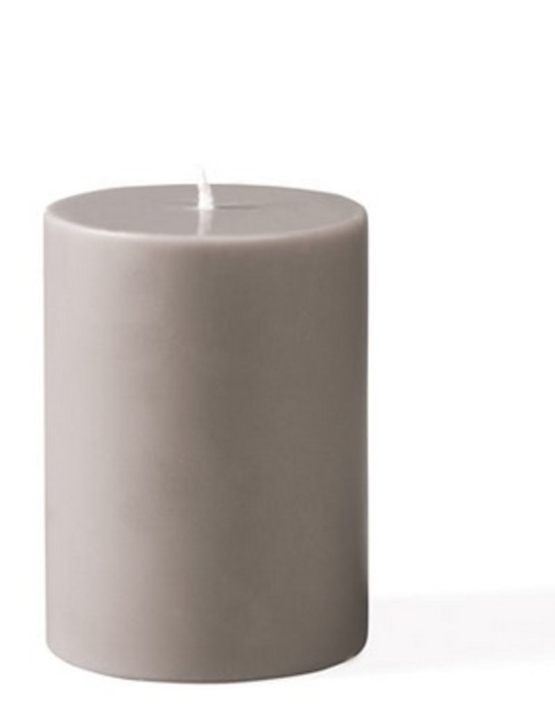 "GREY CANDLE  3""x4"""