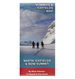 Wapta Icefield and Bow Summit Map
