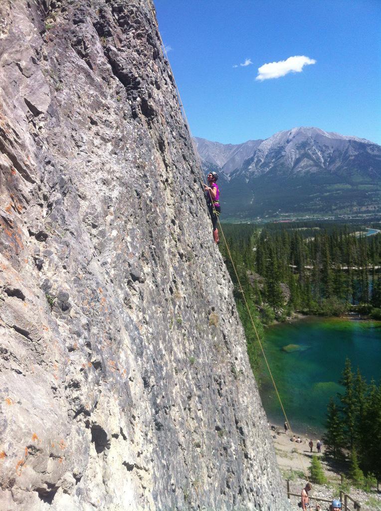 canmore climbing grassi lakes golf course crag