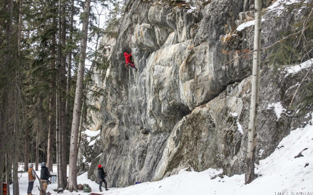 canmore climbing sunshine slab area