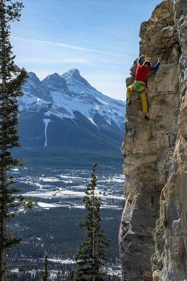 canmore climbing echo canyon crag