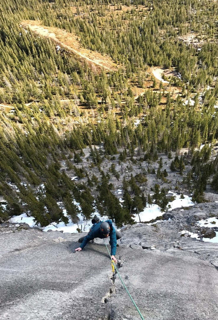 canmore climbing kid goat crag twilight zone