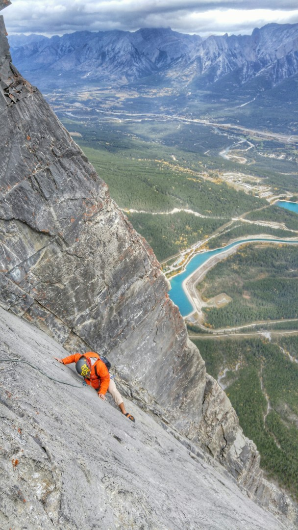 canmore climbing NE Face Ha Ling Peak