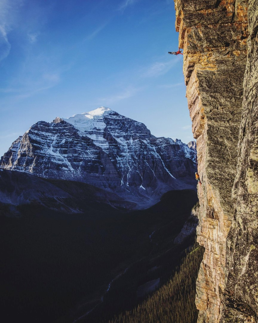 canmore climbing, screams from the balcony, Saddleback