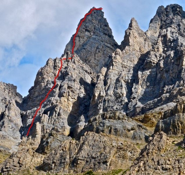 canmore climbing achille spire, andromach