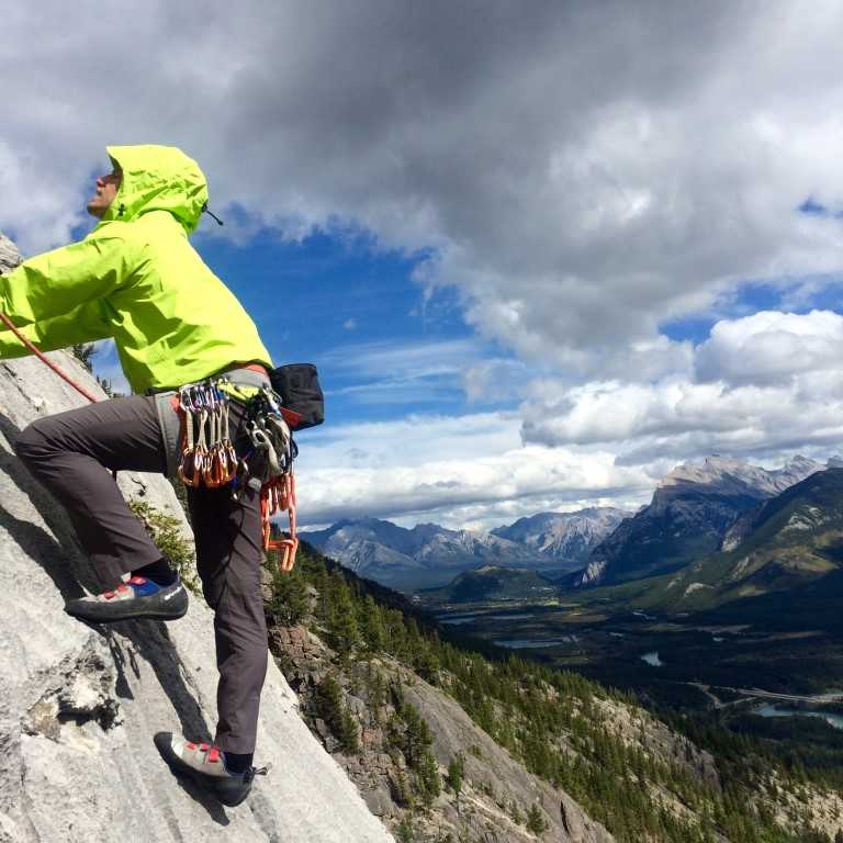 canmore climbing aftonroe, guides rock