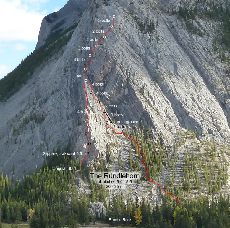 canmore climbing rundlehorn, moutn rundle