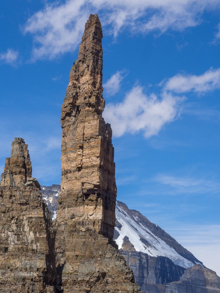 canmore climbing, cardiac arete, grand sentinel, lake moraine
