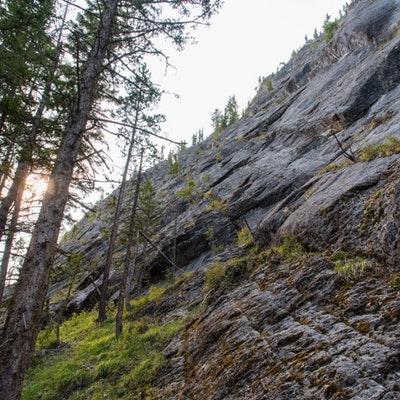 canmore climbing, plutoninan shore, raven crag