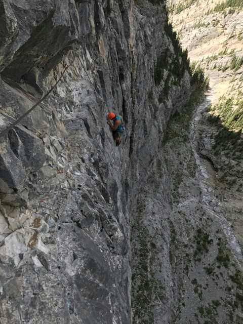 canmore climbing tall story, echo canyon