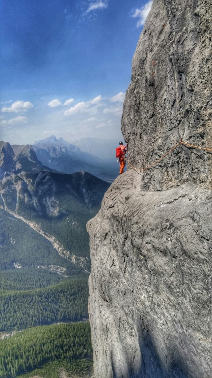 canmore climbing, west ridge, little sister. three sisters