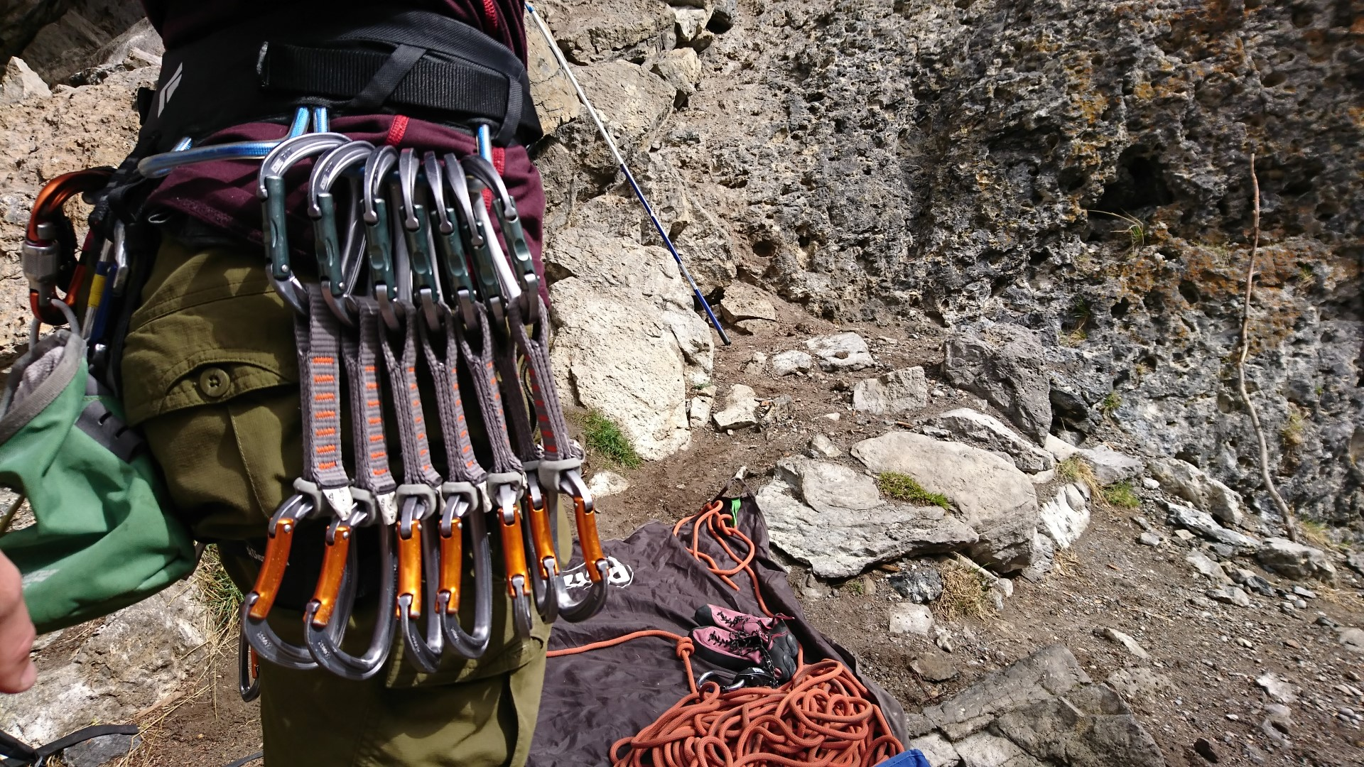 basic equipment to climb outside