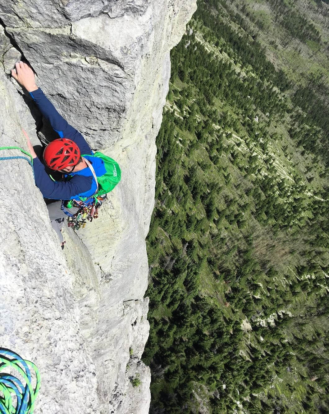 Branden on Khal Wall Route