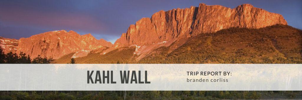 Kahl Wall Trip Report - A fun day on Yamnuska