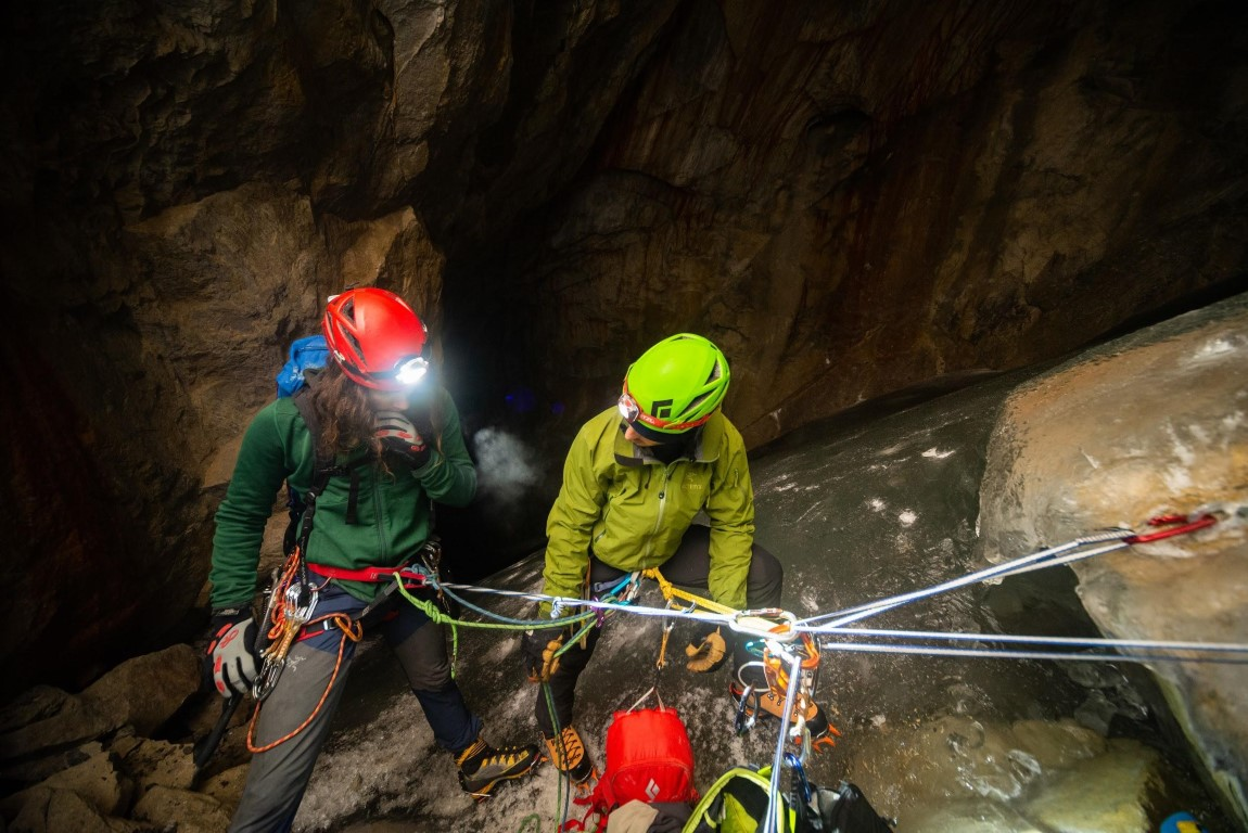 Getting Ready for the Descent in Booming Ice Chasm