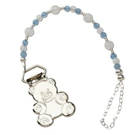 Sterling Silver Teddy Bear Binky Clip