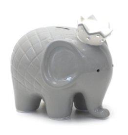 Coco Elephant Bank - Grey
