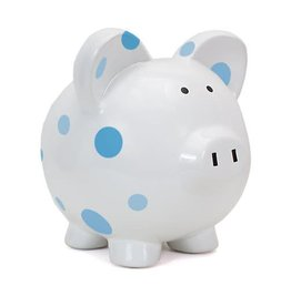 Blue Multi-Dot Piggy Bank