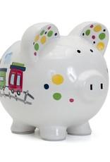 Choo Choo Transportation Piggy Bank