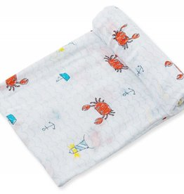 Bamboo Swaddle Blanket - Crabby