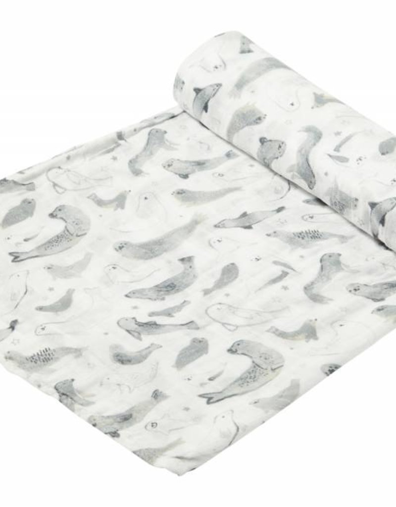 Bamboo Swaddle Blanket - Seals