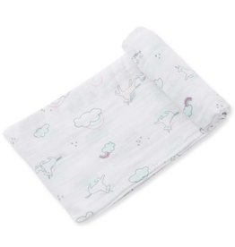 Bamboo Swaddle Blanket - Unicorn