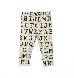 L'ovedbaby Beige Alphabet Organic Legging