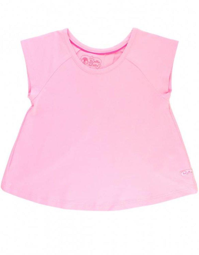 RuffleButts/RuggedButts Pink Tulip Back Top