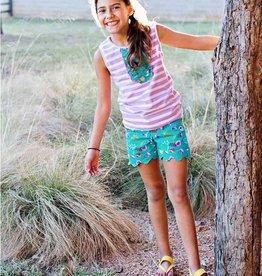 RuffleButts/RuggedButts Sweet Meadow Scallop Shorts