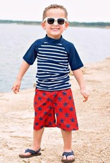 RuffleButts/RuggedButts Red/Blue Star Swim Trunks