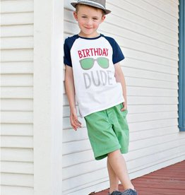 RuffleButts/RuggedButts Birthday Dude Raglan Tee