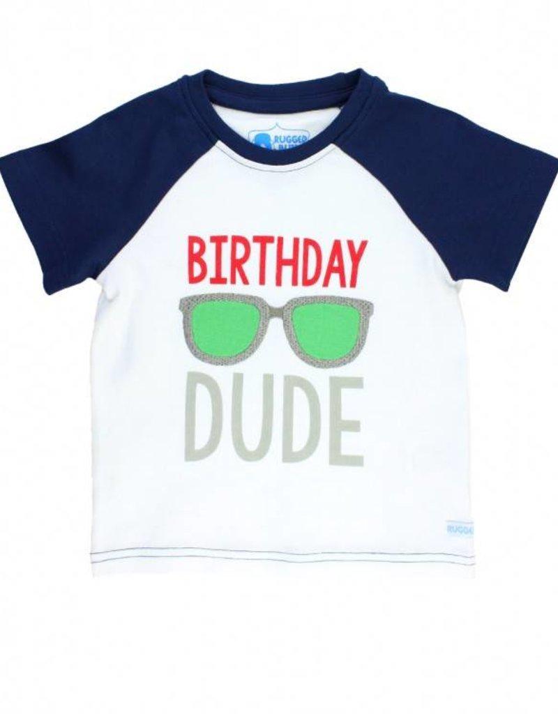 RuffleButts/RuggedButts Birthday Dude Raglan Tee