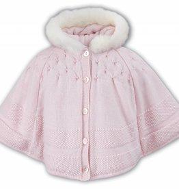 Sarah Louise Sarah Louise Knit Pink Poncho