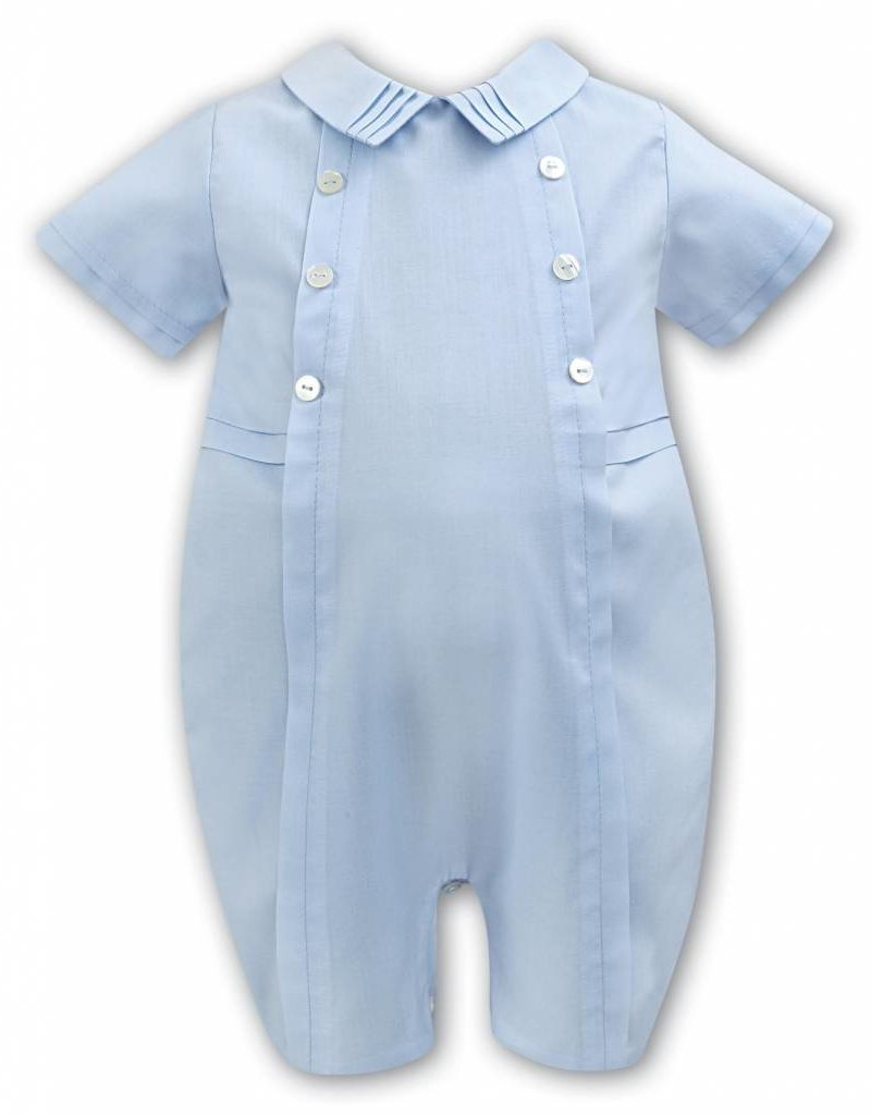 Sarah Louise Baby Blue Classic Romper