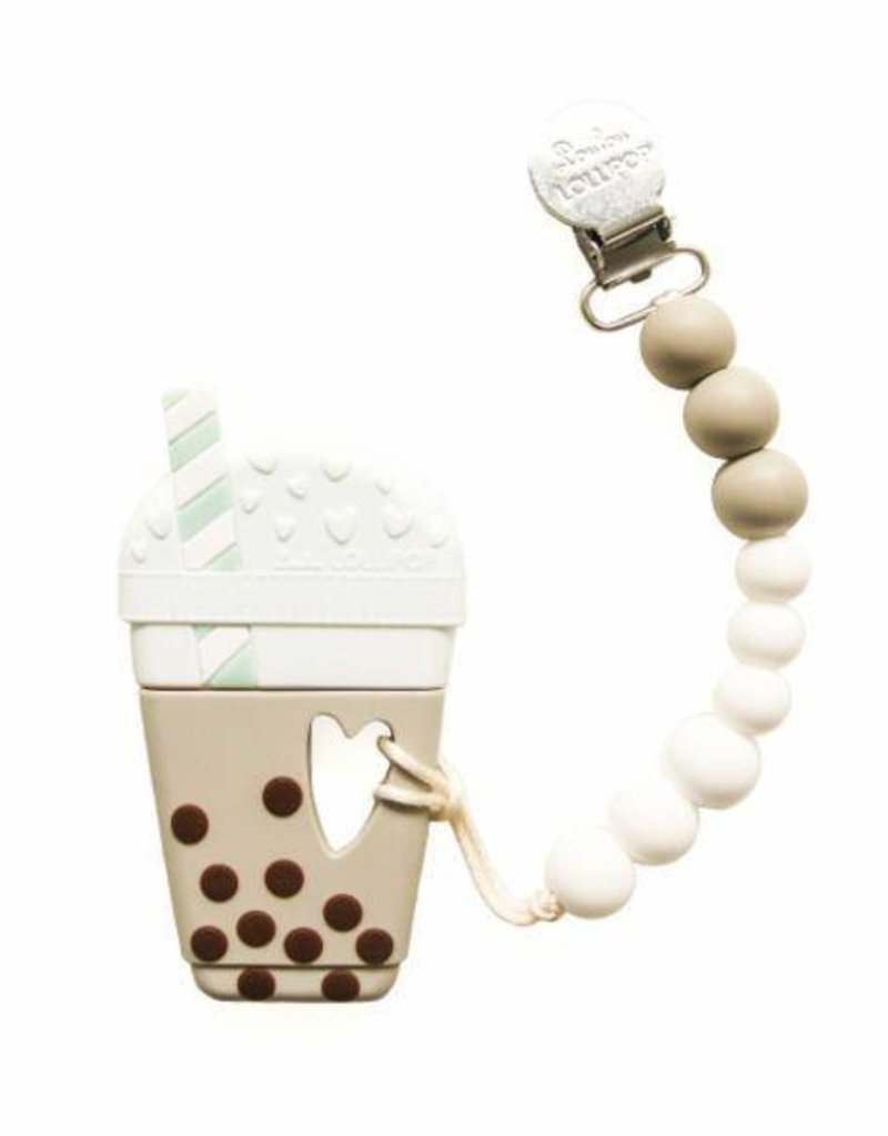 LouLou Lollipop Milk Tea Bubble Teether and Holder Set