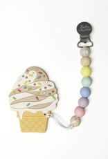 LouLou Lollipop Chocolate Icecream Teether and Holder Set