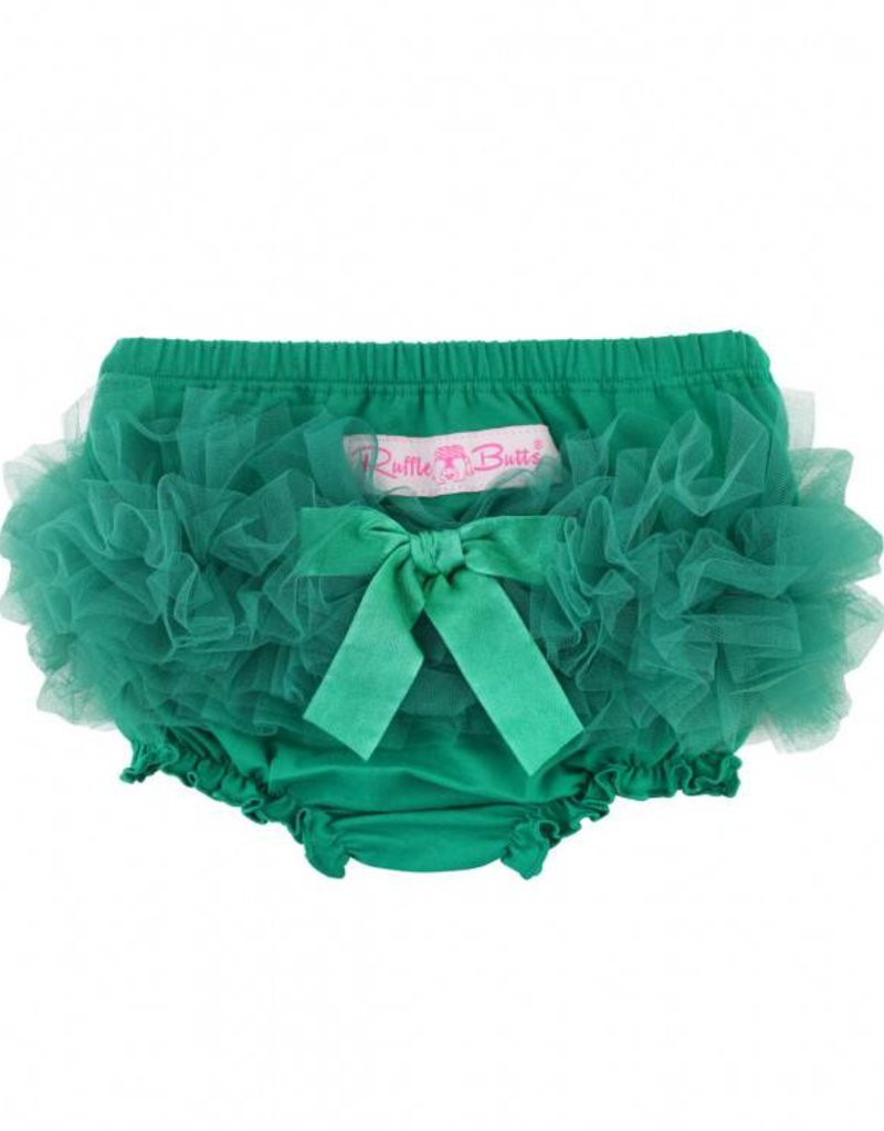 RuffleButts Emerald Frilly Knit RuffleButt