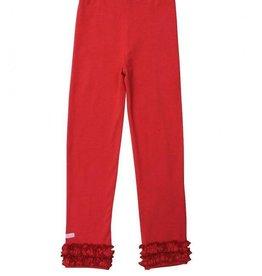 RuffleButts Red Ruffle Leggings