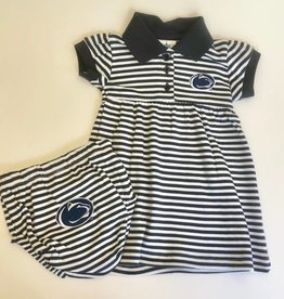 Penn State Striped Dress w/ Bloomer
